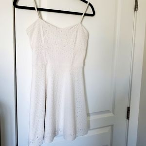 🌵AEROPOSTALE White Eyelet Fit & Flare Mini Dress
